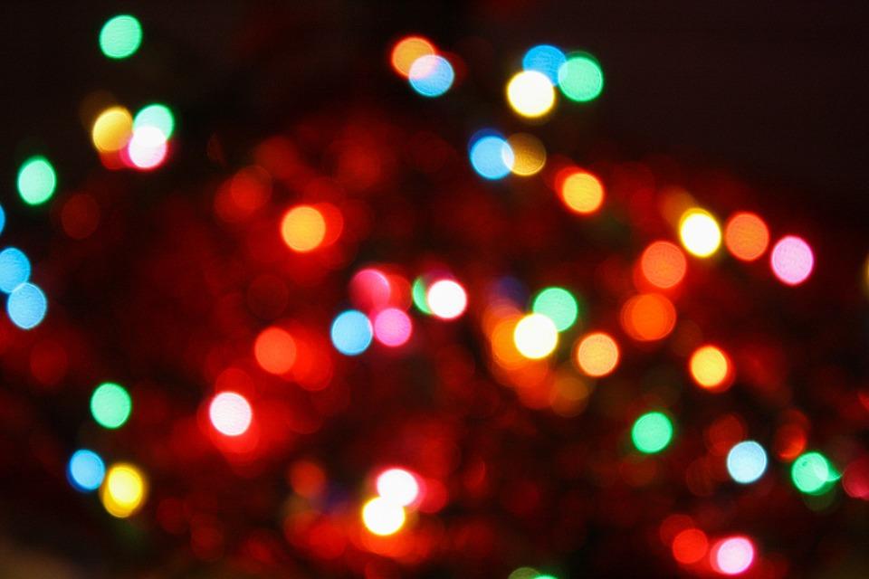 bokeh christmas christmas tree ornaments holiday