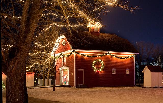 Free Photo Christmas House Night Xmas Lights Free