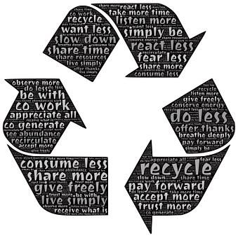リサイクル, 循環させる, 共有, 再循環, 環境, シンボル, 寛大さ