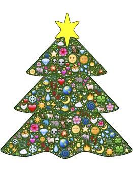Billedresultat for juletræ emoji