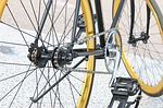 bicycle, gear, golden