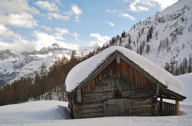 Gratis foto sneeuwlandschap berghut alpine gratis afbeelding op pixabay 557679 - Berghut foto ...