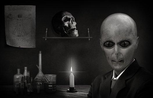 Alien Reptilian Portrait Politician Extrat