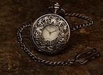 pocket watch, jewel, chain