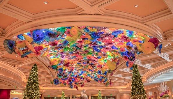 Bellagio, Casino, Las Vegas, Ceiling
