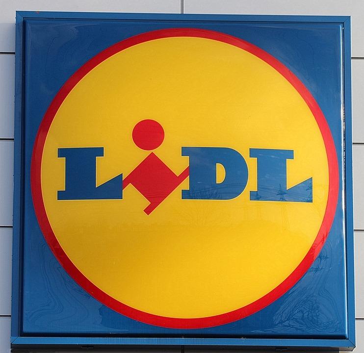 Werbung, Schild, Lidl, Werbeschild, Supermarkt