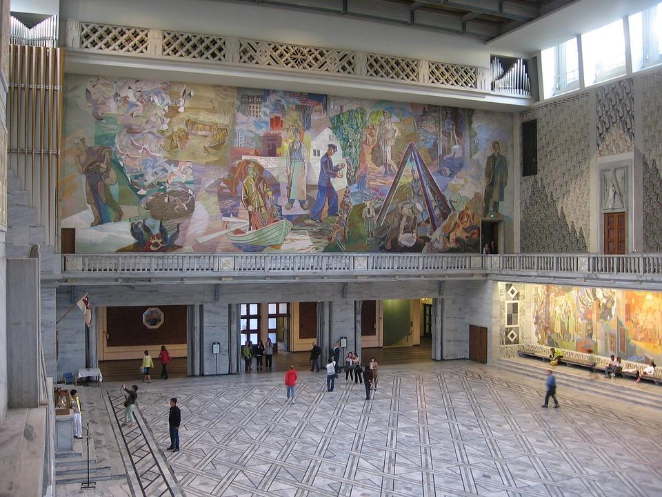 D Art Exhibition Ipoh : Photo gratuite oslo hôtel de ville hall d entrée