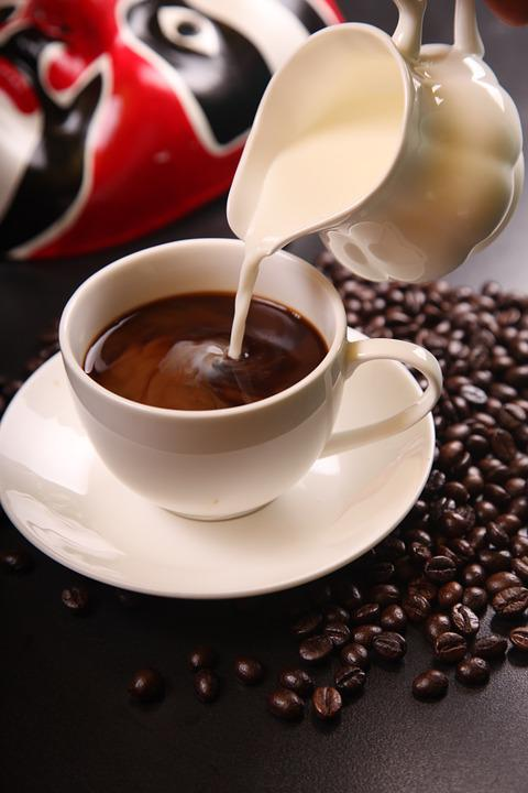 Coffee, Milk, Coffee Beans, Cup Of Coffee, Coffee Cup