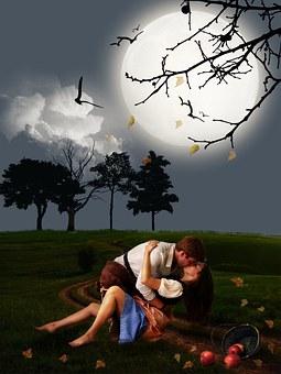 Pareja, Amante, Escena Romántica, Escena