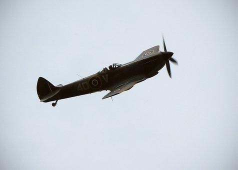 Spitfire Plane Av Fighter Airplane War Air