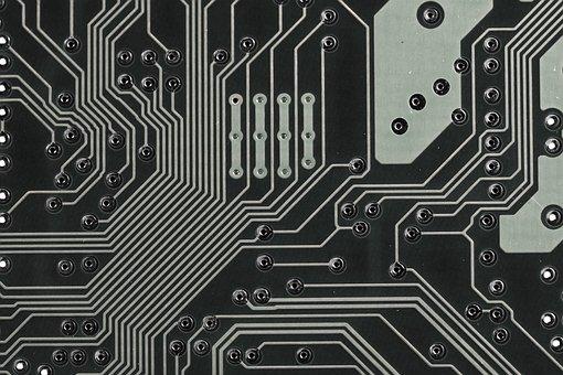 Placa, computador, chip, processamento de dados