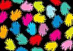 hands, background, black