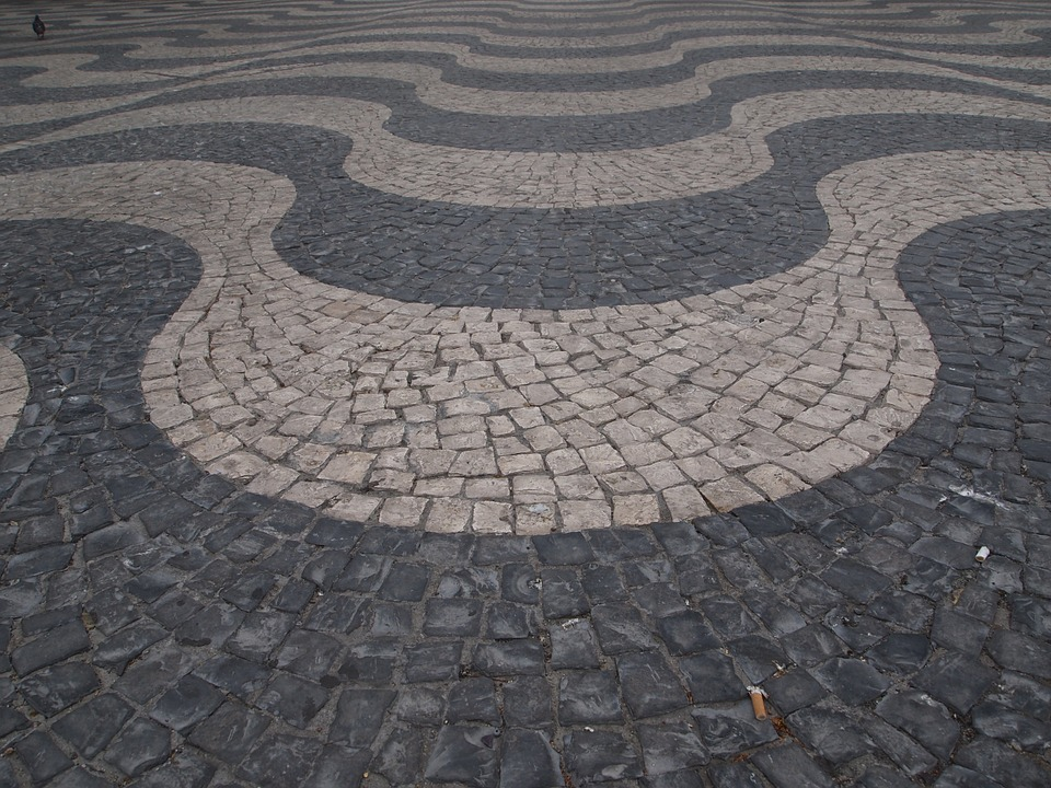 suelo piedra pisar fondo piedras textura plaza