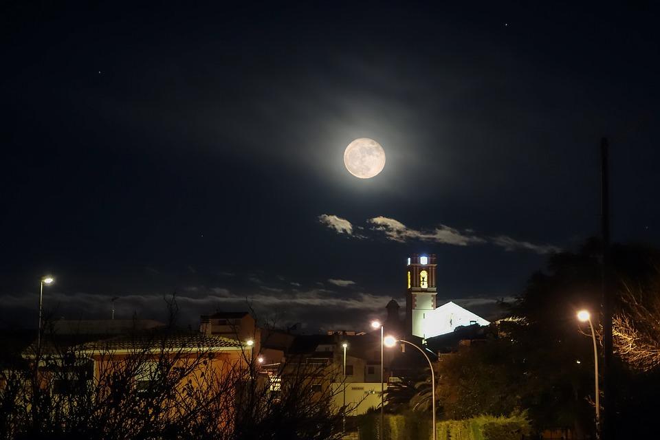 Full Moon Village Night 183 Free Photo On Pixabay