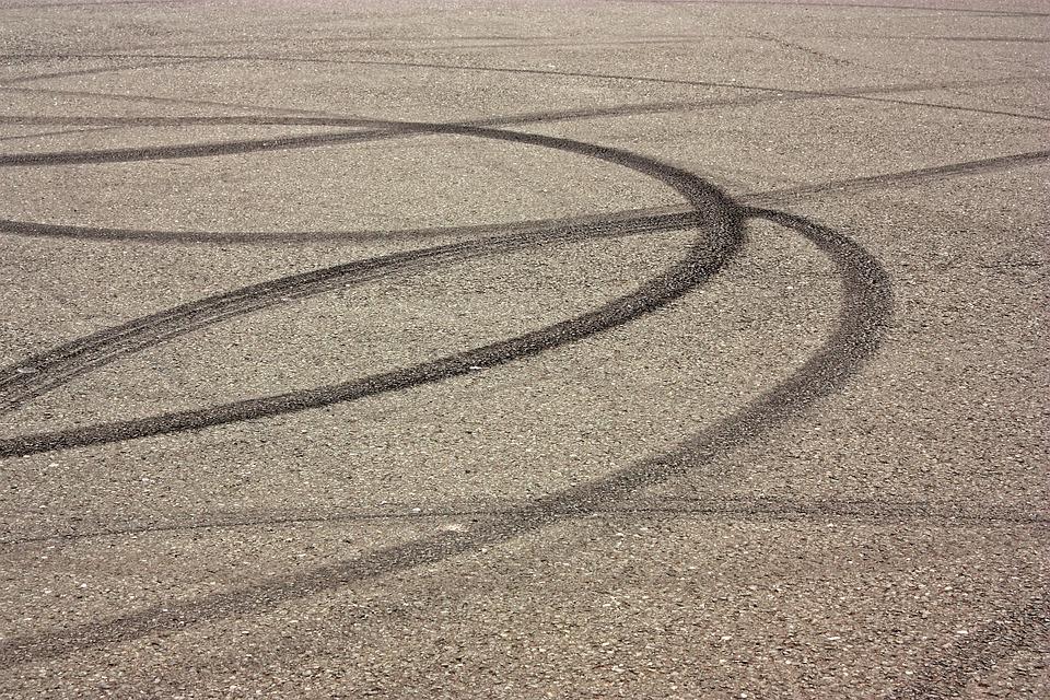 skid mark asphalt road braking free photo on pixabay