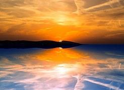 Evening, Reflection, Sunset, Sky
