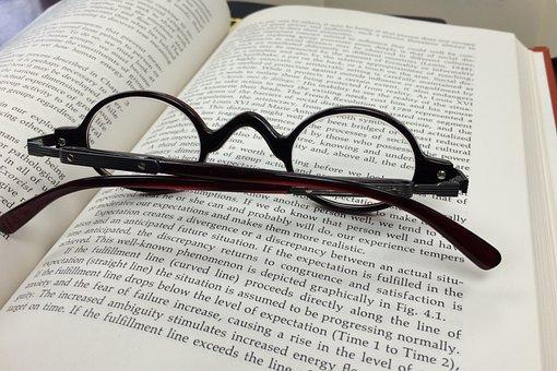 メガネ, 眼鏡, オフィス, ビジネス, 本, ビジョン, 読書, 教育