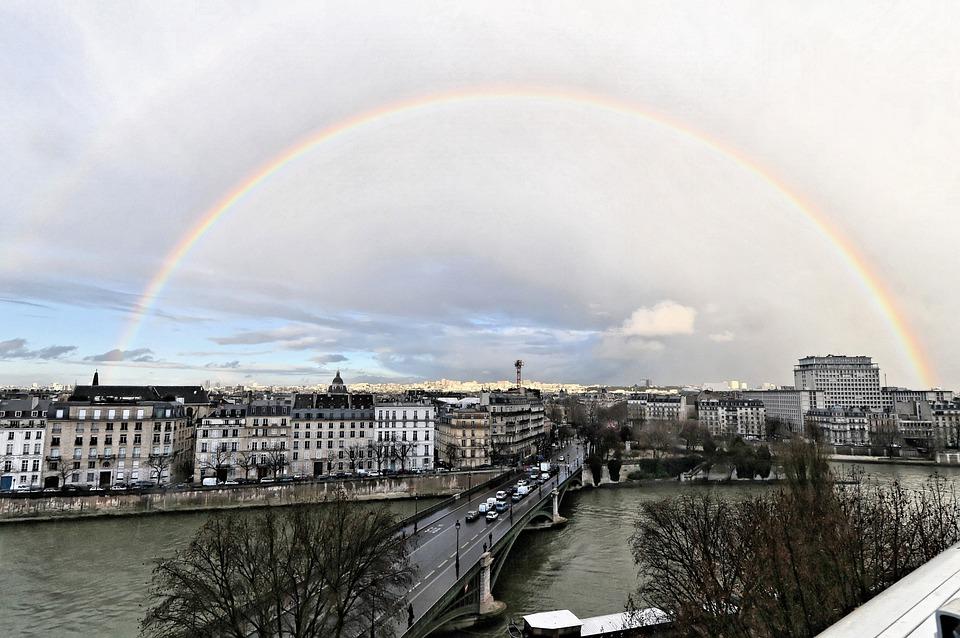 Regenbogen Paris Sturm · Kostenloses Foto auf Pixabay