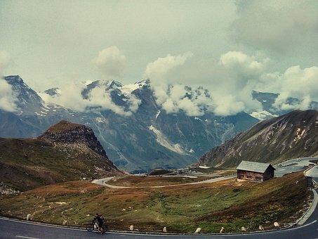 Alps, Road, Pass, Curves, Landscape