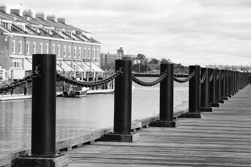 Pier, Jetty, Chain, Poles, Planks