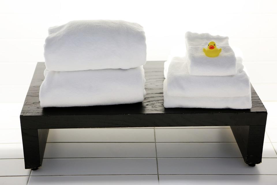 Towels Tables Bathroom Laundry Clean Duck Spa