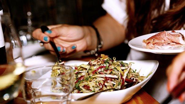 Salat, Restaurant, Mahlzeit, Abendessen