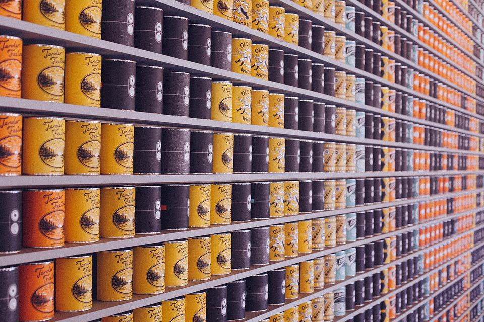 Canned Food, Cans, Supermarket, Food, Canned, Store