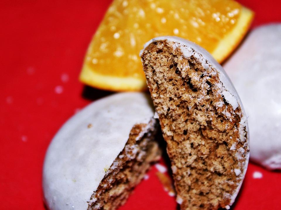 Pfefferkuchen, Weihnachten, Orange, Apfelsine, Rot