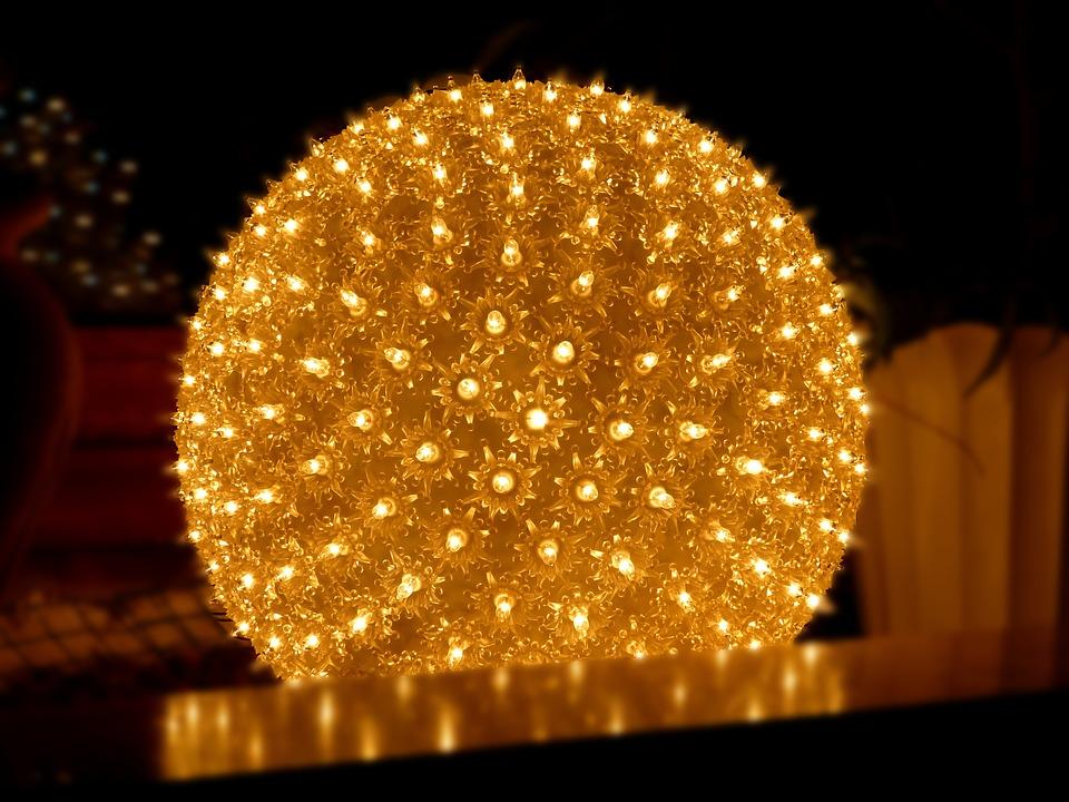 ball light christmas lights mood lamp - Christmas Sphere Lights