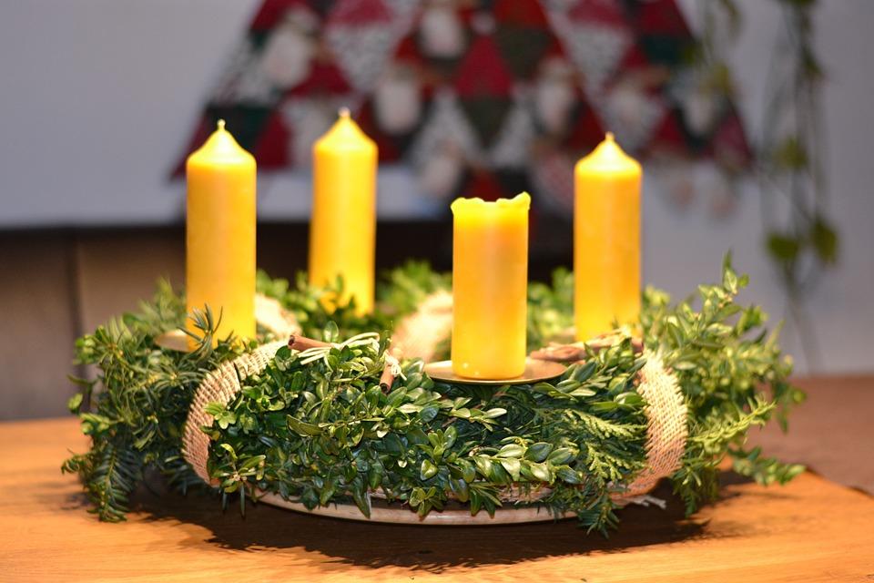 adventskranz weihnachten deko kostenloses foto auf pixabay. Black Bedroom Furniture Sets. Home Design Ideas