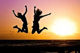 Youth, Active, Jump, Happy, Sunrise