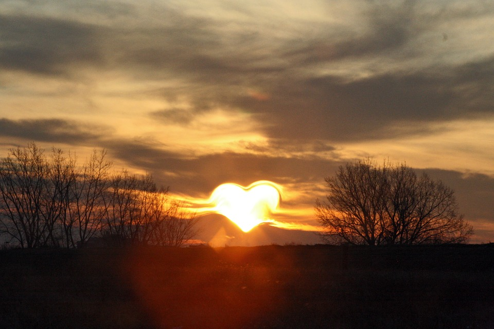 Free Photo: Heart, Love, Sun