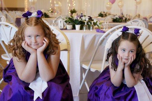 Flowergirls, Sœurs, Mariage, Adorable