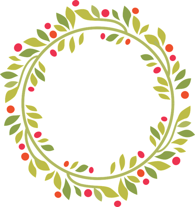 wreath christmas green 183 free vector graphic on pixabay