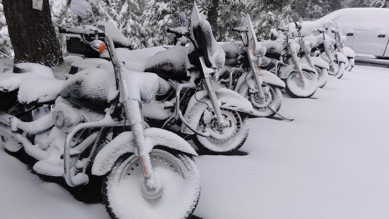 Harley Davidson Motorcycle Snow - Free photo on Pixabay