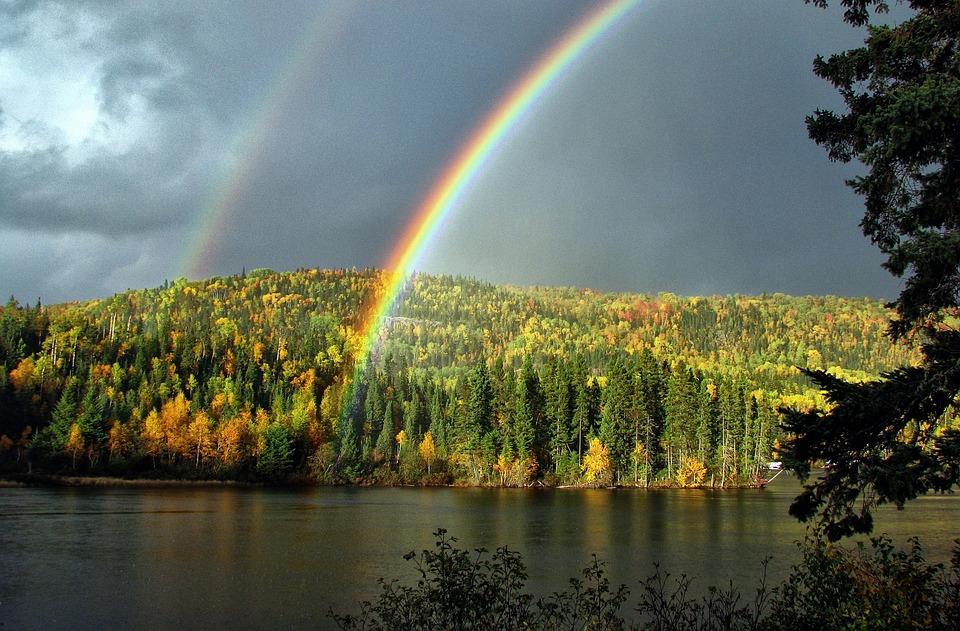 Arc en ciel paysage automne photo gratuite sur pixabay - Image arc en ciel gratuite ...