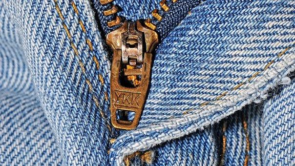 Zipper, Pants, Jeans, Clothing, Textile
