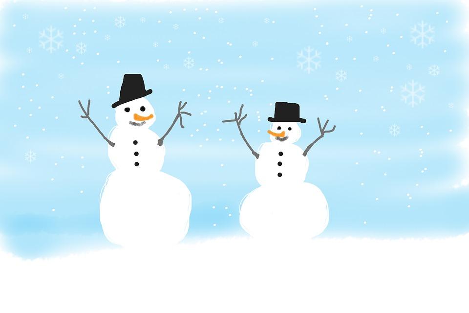 Snehulaci Zimni Deti Obrazek Zdarma Na Pixabay