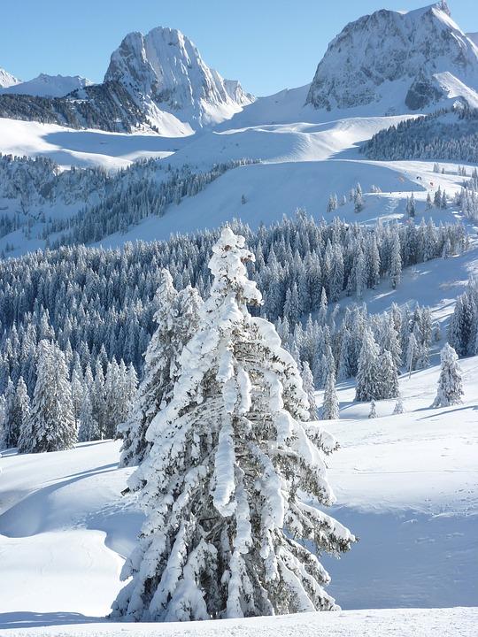 winterlandschaft berge winter kostenloses foto auf pixabay. Black Bedroom Furniture Sets. Home Design Ideas