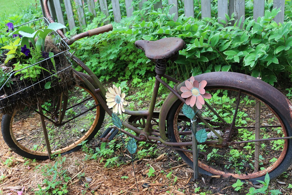 Wonderful Bike Garden Cycle Bicycle Vintage Old Summer