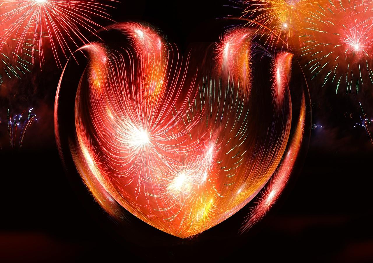 Сердце салют картинка
