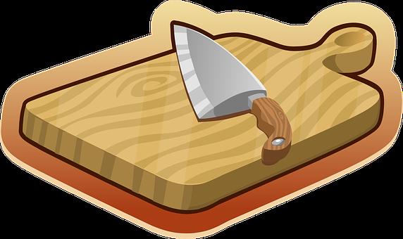 カッティング ボード, ブラウン, 木造, ナイフ, キッチン, 道具