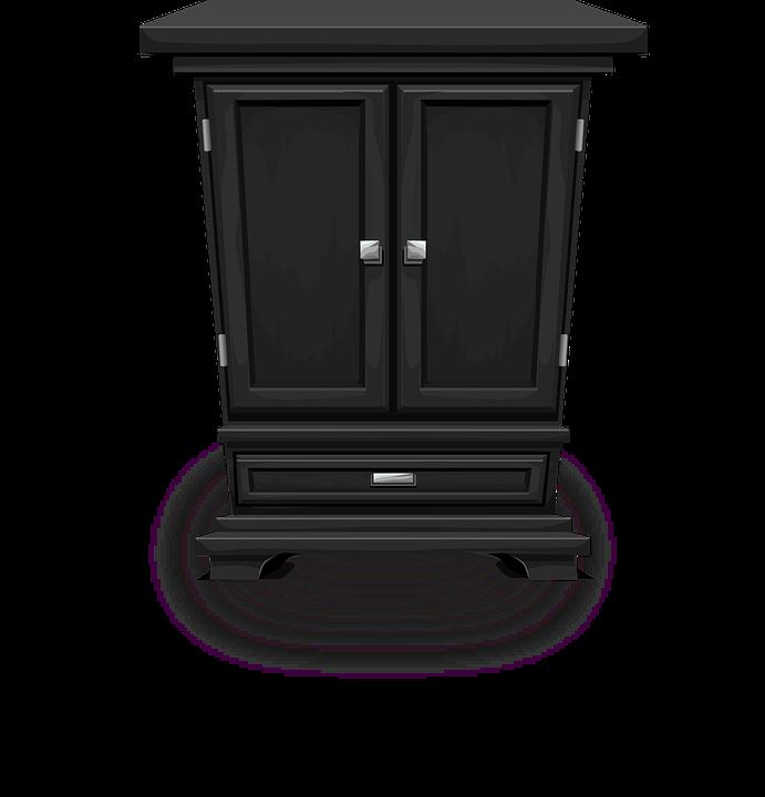 Storage Cabinet Black - Free vector graphic on Pixabay