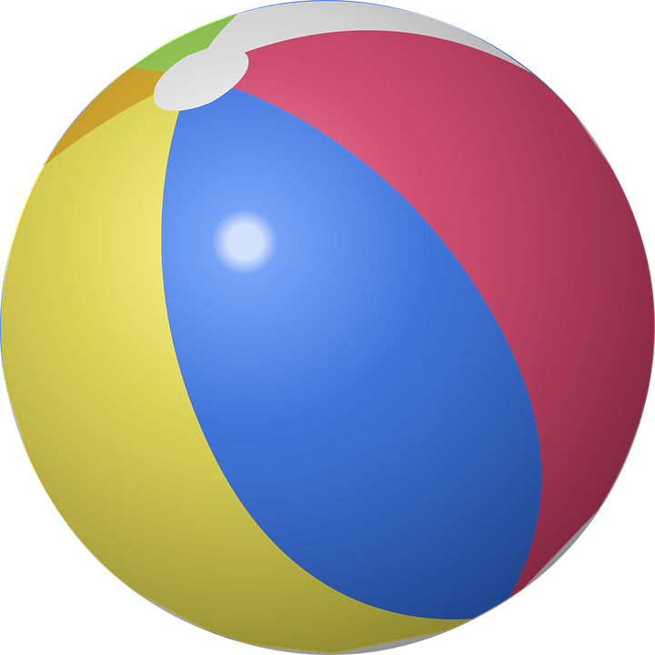 Beach Ball, Ball, Inflatable, Beach