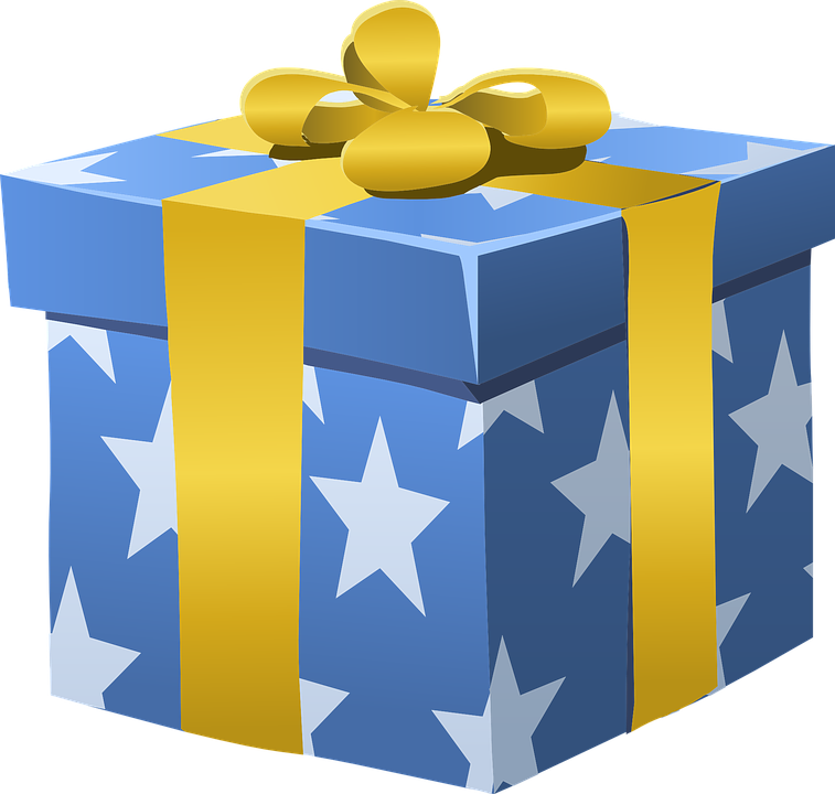 Free Vector Graphic: Gift, Present, Box, Wrapped, Bow