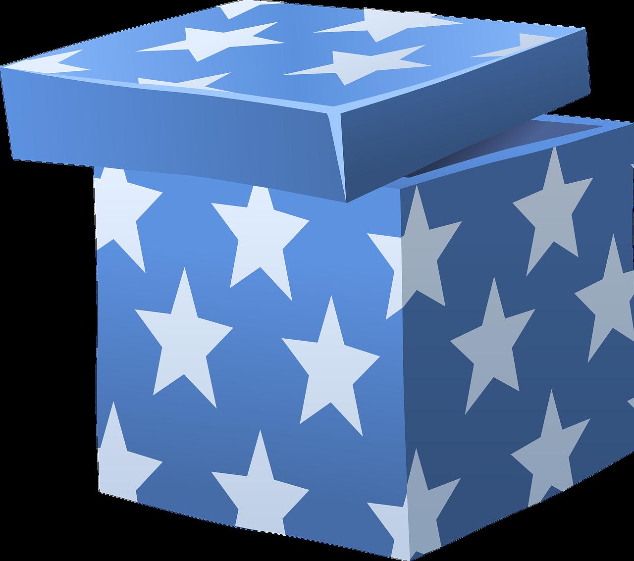 синяя коробка картинка