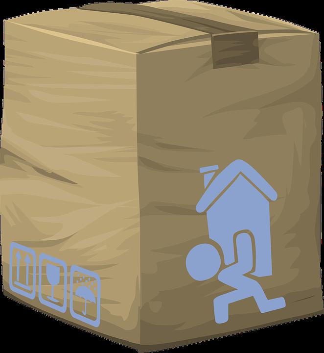 パッケージ, 配信, ボックス, 段ボール, 出荷, コンテナ, 郵便, メール, メーリング, 順序, 包装