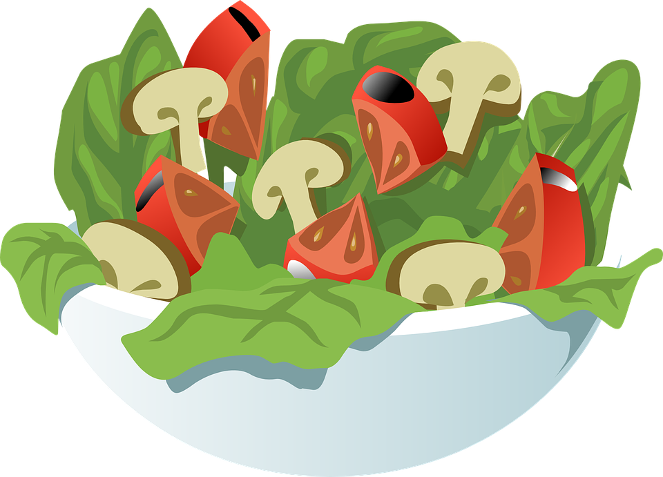 Salad Vegetables Meal Free Vector Graphic On Pixabay