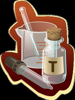 Chemie, Labor, Chemische, Glaswaren