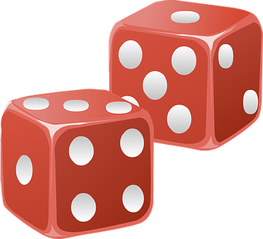 Dice, Red, Cubes, Die, Shapes, Two